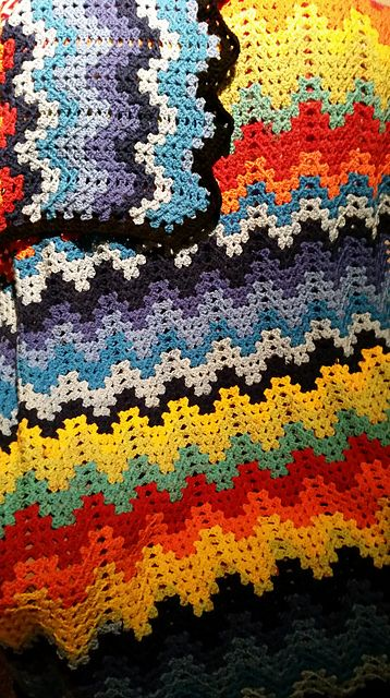 Ravelry Project Gallery For Granny Ripple Afghan Pattern By Mary