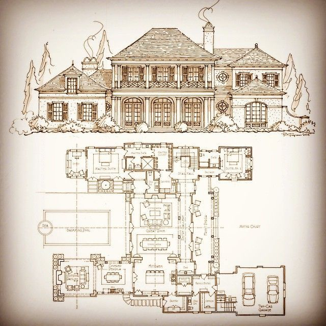 72e0304c92a2b36c05f7b547de5f9be3 Jpg 640 640 Pixels Vintage House Plans Courtyard House Plans Wood Shake Roof