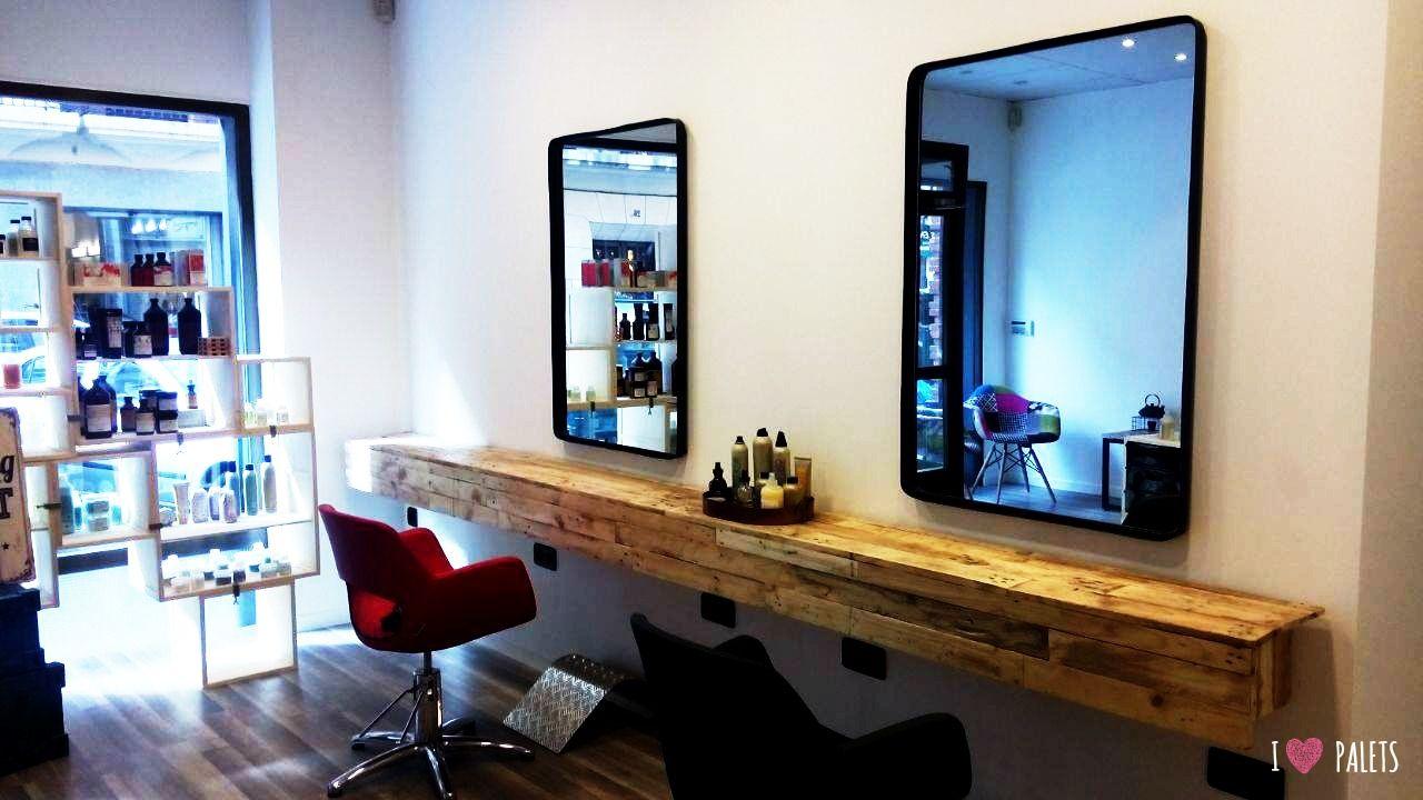 Muebles de palets para una peluquer a palets ideas de for Muebles de peluqueria