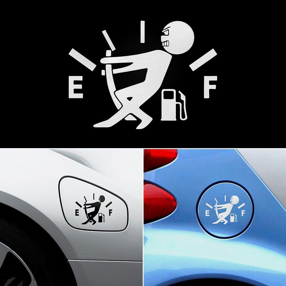 Amusing Decorative Car Sticker With Fuel Tank Pointer Design Smartautotasev Car Stickers Funny Car Sticker Design Car Humor [ 1000 x 1000 Pixel ]