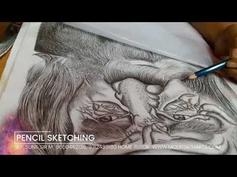 Pencil drawing sketching classes at home by sunil sir 9650462136 09