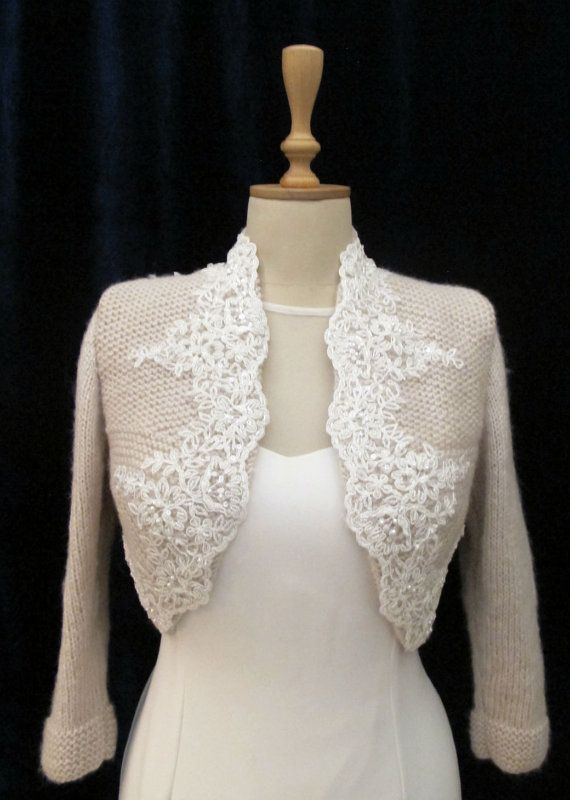 Bridal Bolero Wedding Shrug Wrap Capelet İvory Scalloped Edge ...