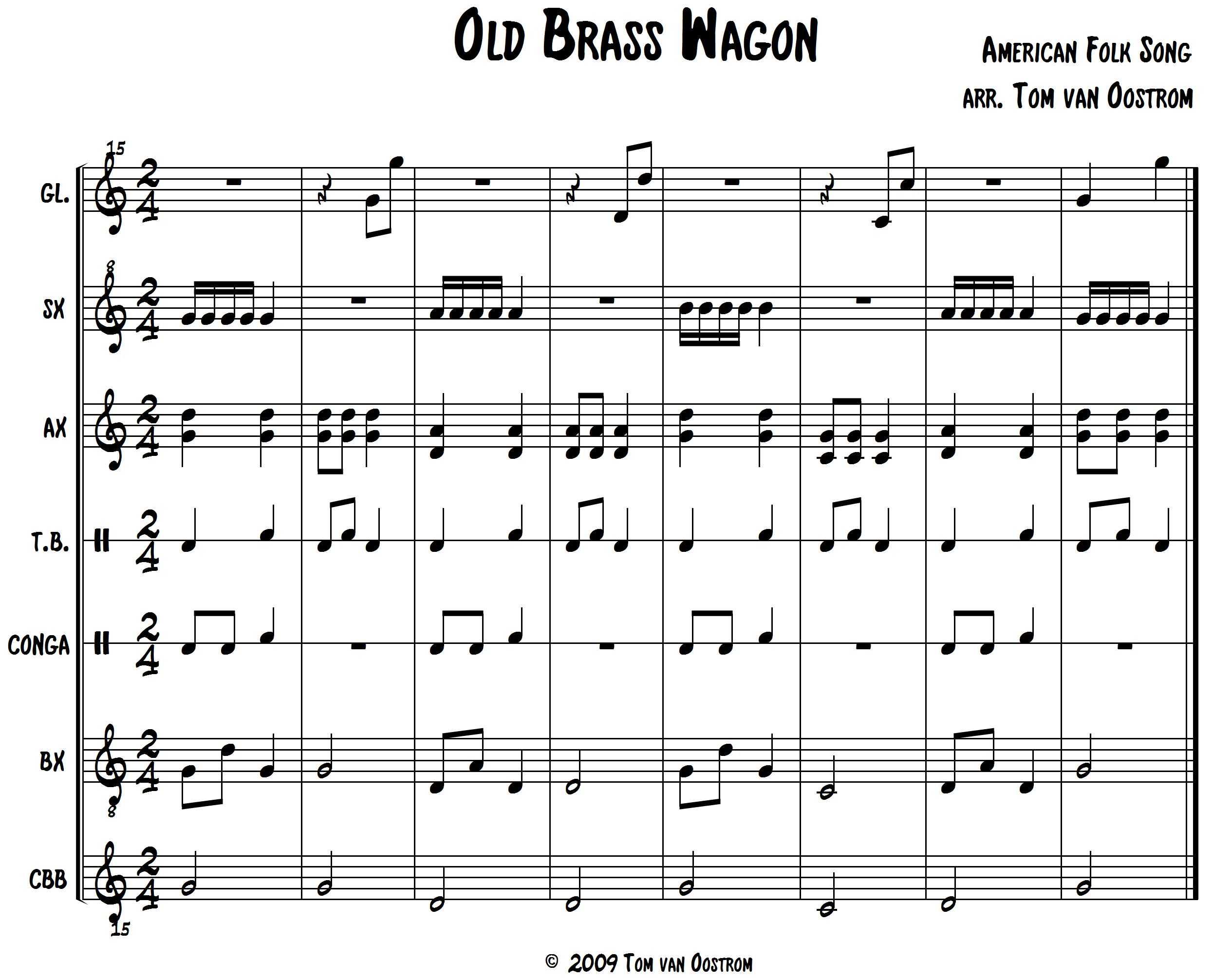 Old Brass Wagon Orff Arrangement