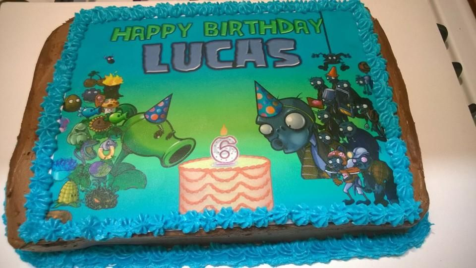 Superb Easy Plants Vs Zombies Kids Birthday Cake Chimera Cake Designs Personalised Birthday Cards Arneslily Jamesorg