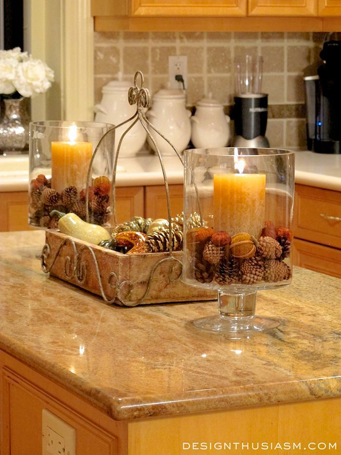 Fall room decor 6 ways to add autumn warmth to your kitchen kitchens easy and kitchen decor - Kitchen table centerpiece ideas ...