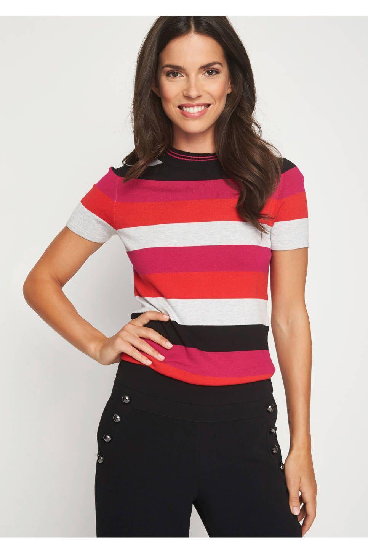 a9d156a705c comma gestreepte top #wehkamp #strepen #streepjes #top #shirt #rood #roze # dameskleding #damesmode