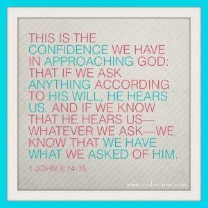 1 John 5:14-15