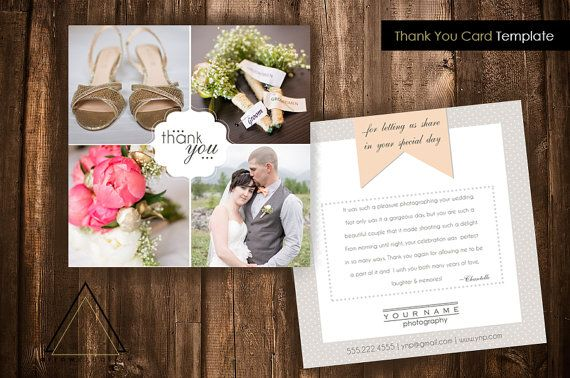Thank You Card Template Small Business Photographer Photoshop