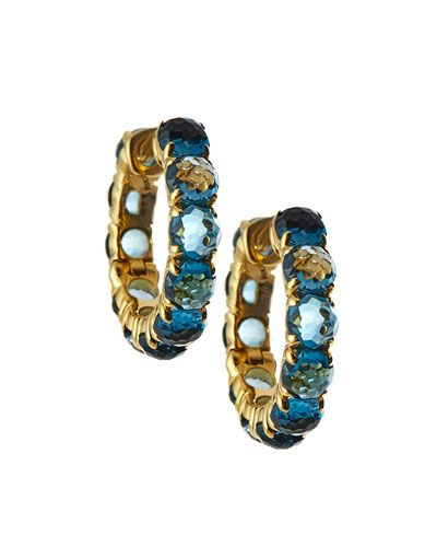 18k Lollipop® Hoop Earrings in London Blue Topaz