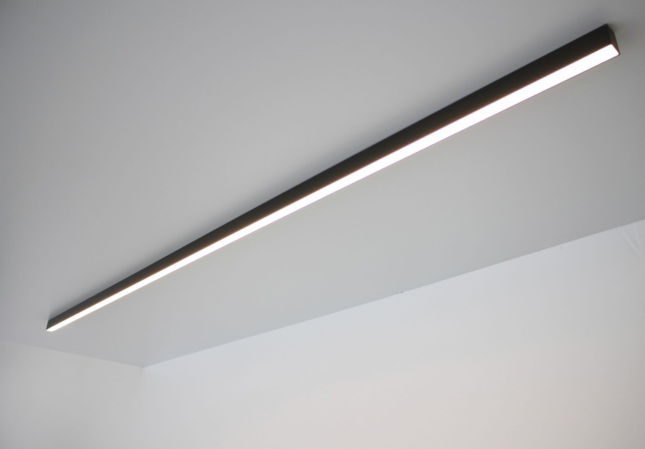 Contemporary Ceiling Light Linear Plastic Led