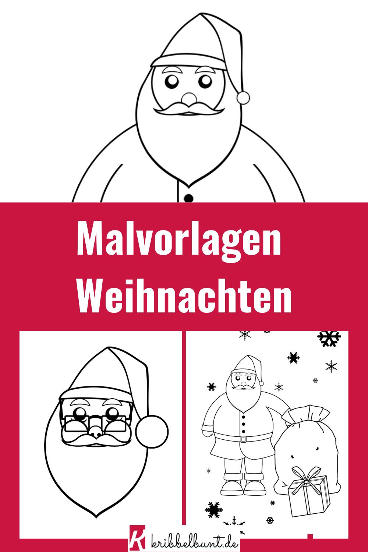 malvorlage für weihnachten  malen mit kindern  basteln