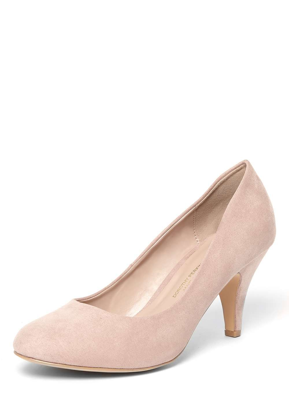 Pink Wide Fit 'Wilamina' Court Shoes