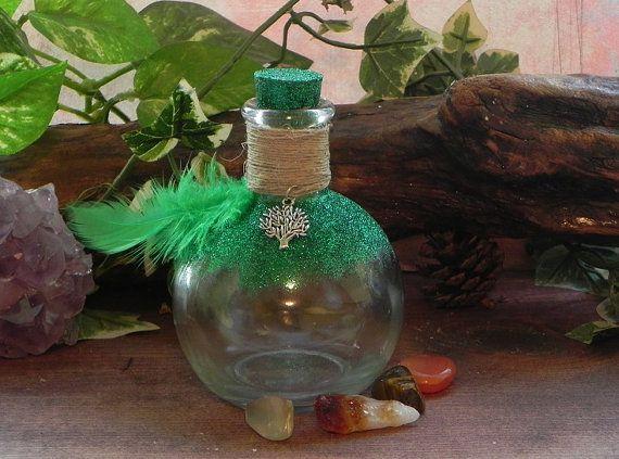Prosperity & Abuundance Witch's Bottle by SandiEnchantedGarden, $15.00