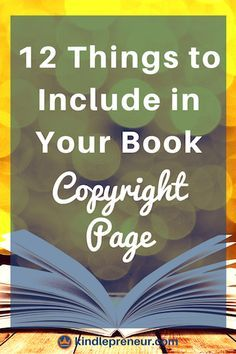 Ironclad Book Copyright Page Examples That Will Protect You