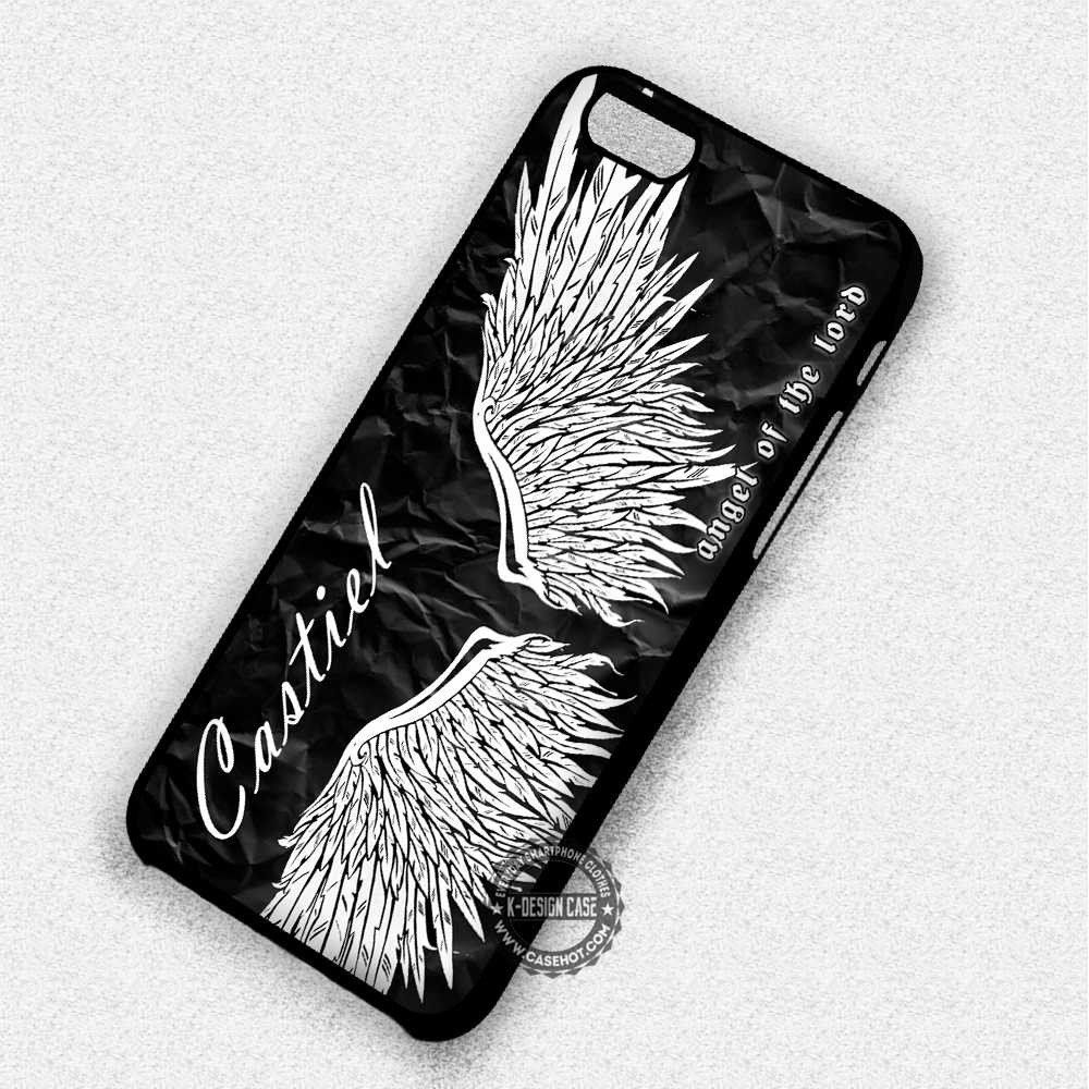 Angel Wings Supernatural Castiel - iPhone 7 6 5 SE Cases & Covers