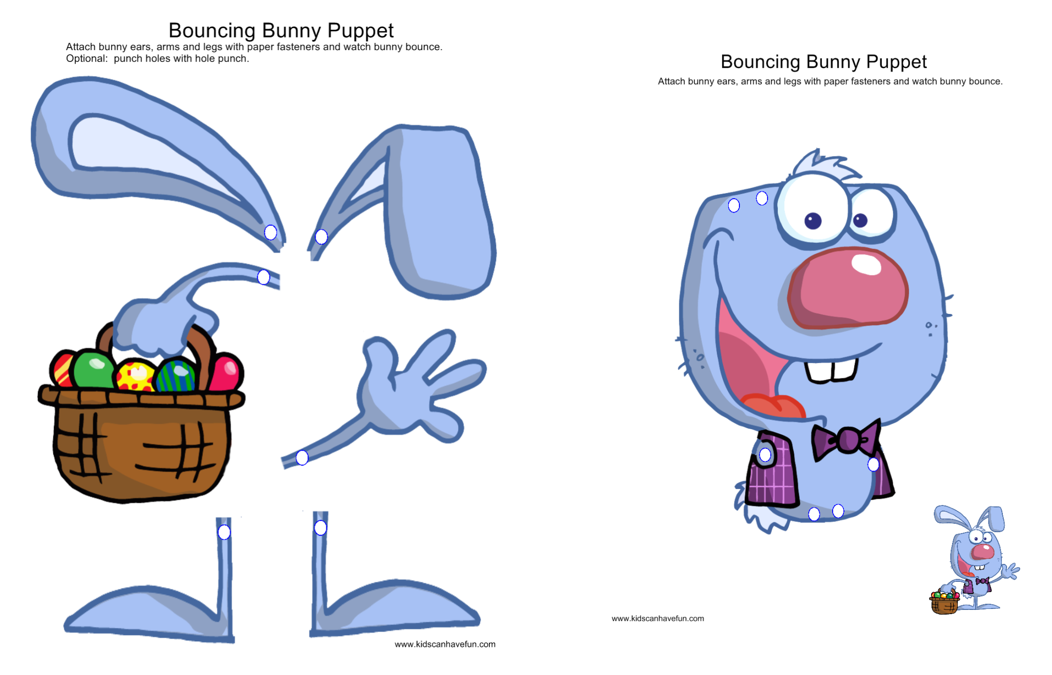 Bouncing Bunny Puppet Activity