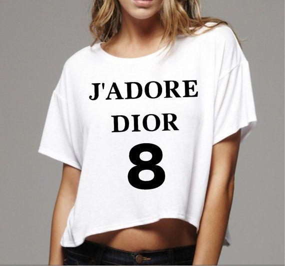 j 39 adore dior women box top tee tshirt shirt size by