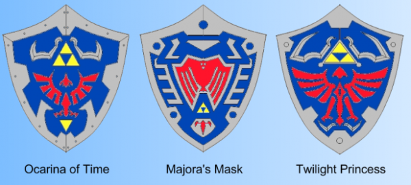 Does Anyone Know The Meaning Behind The Design Change Of The Hylian Shield In Majoras Mask Zelda Zelda Quilt Majoras Mask Zelda Birthday