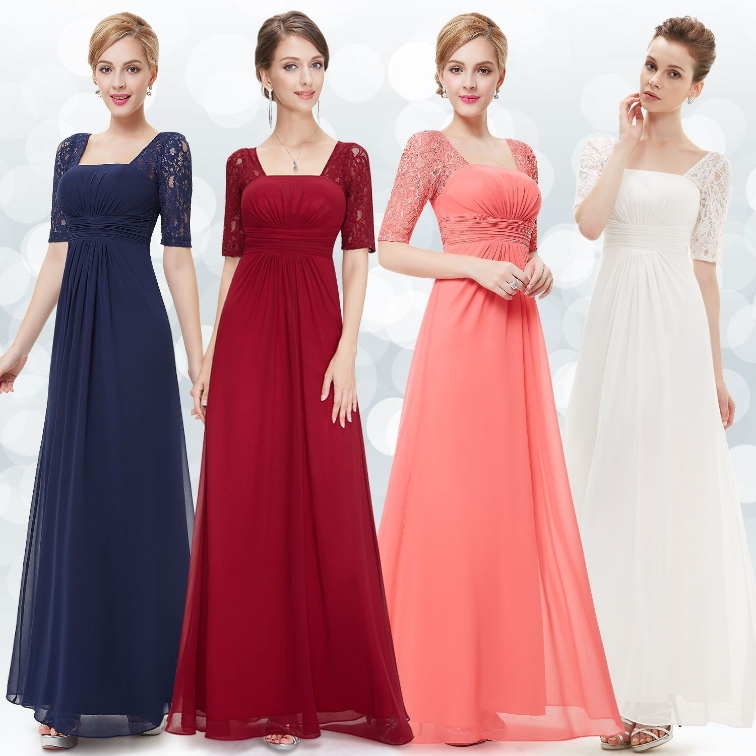 Womenus short sleeve bridesmaid dresses formal evening dress prom