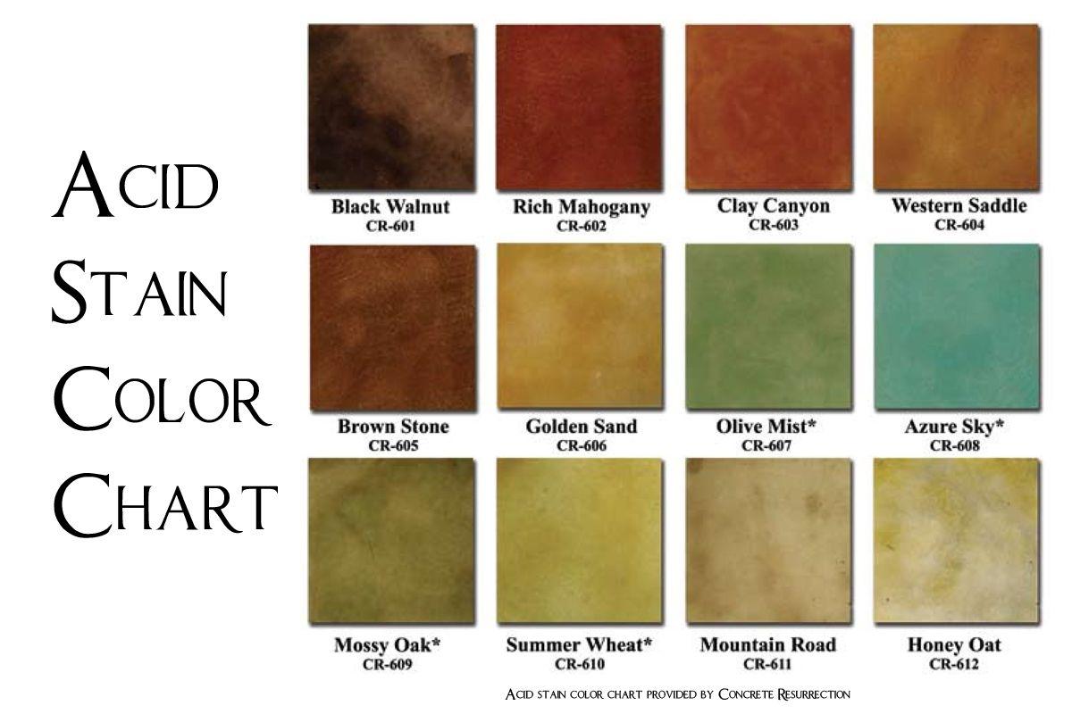 Behr concrete stain colors revival color acid chart also valspar semi transparent for  natural stone rh pinterest