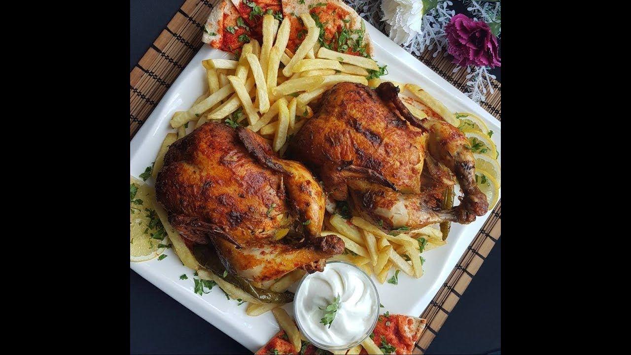 دجاج مشوي بالفرن بتتبيله لذيذة وسر لون الدجاج الرائع Cooking Cooking Art Food