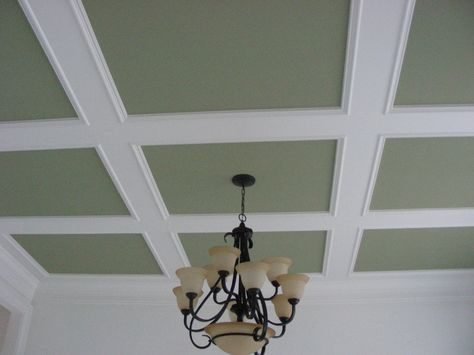 Easy Flat Coffered Ceiling Google Search Coffered Ceiling Ceiling Trim Kitchen Ceiling