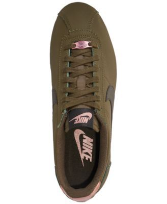 big sale 827d9 0d646 Nike Women s Classic Cortez Leather Metallic Casual Sneakers from Finish  Line - Green 6.5