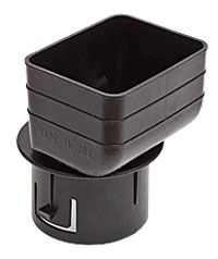 Black Tile Adapter For The Transition From Rectangular Downspouts 2x3 Or 3x4 Sizes Are Available To The Round Drain T Downspout Downspout Adapter Drain Tile