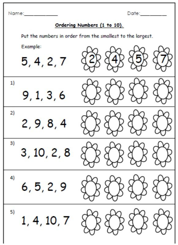 FREE ordering worksheets and number cards. (1-20 ...