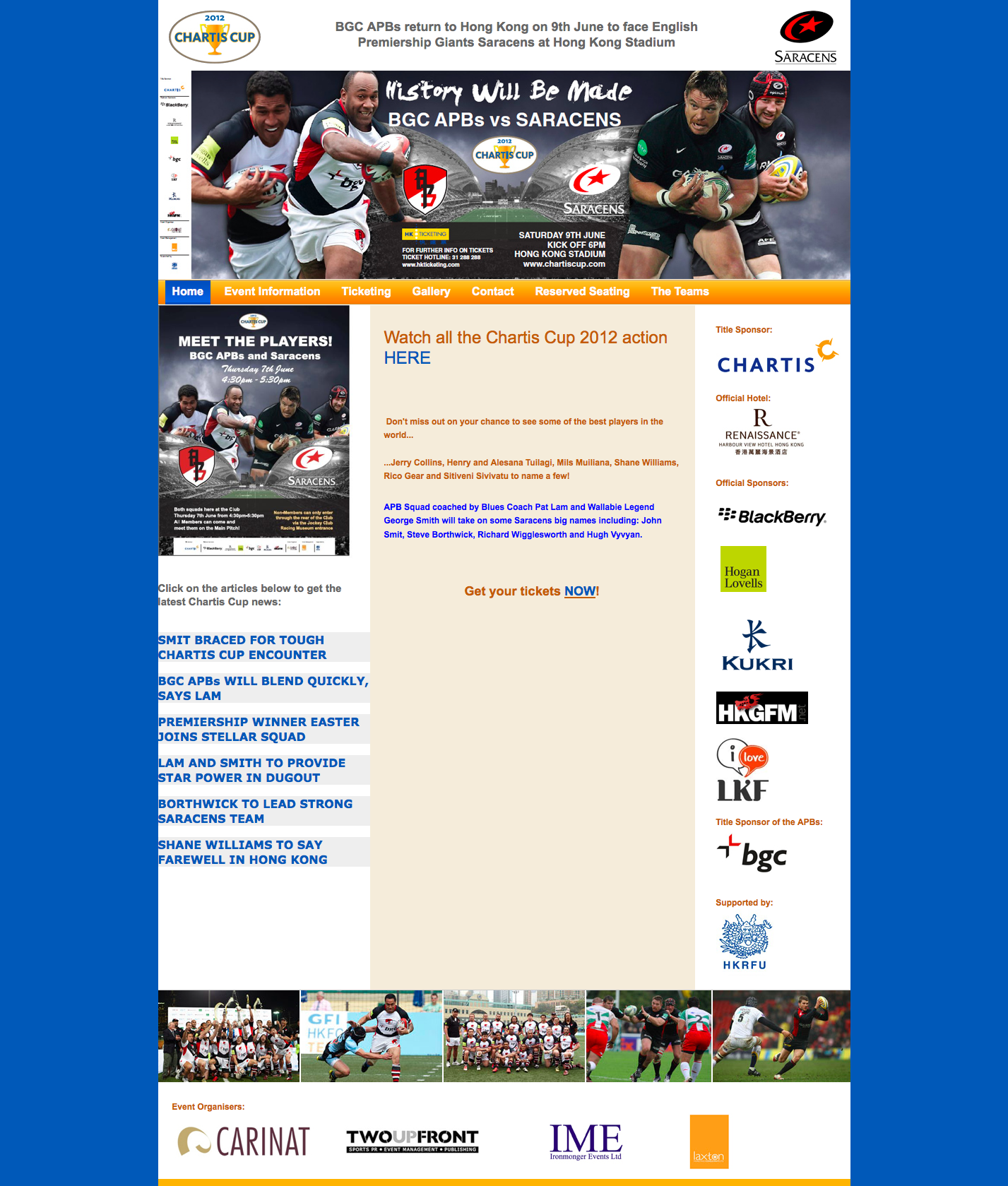 Chartis Cup Official Website