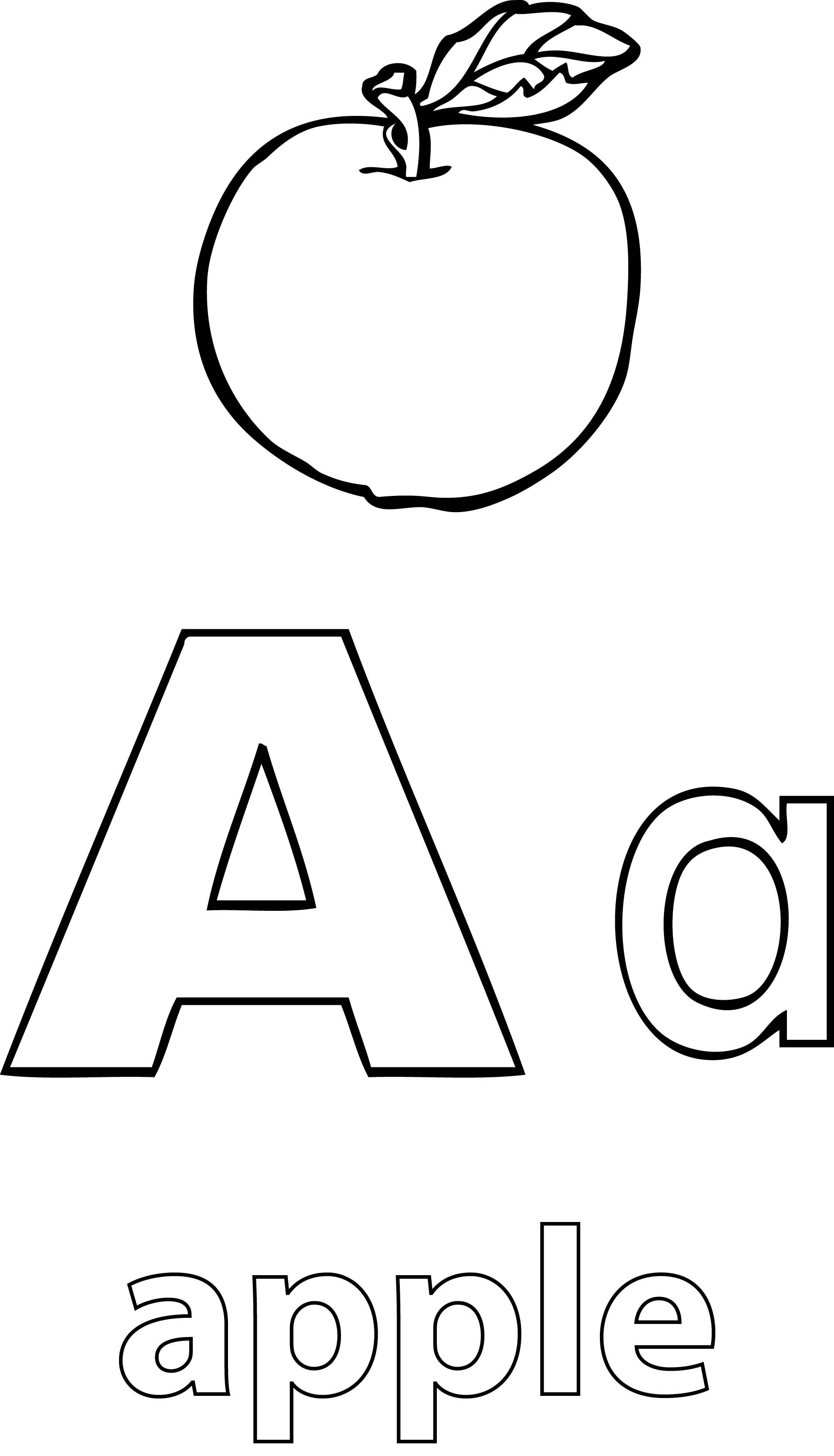 A Alphabet Apple Coloring Page wecoloringpage Apple
