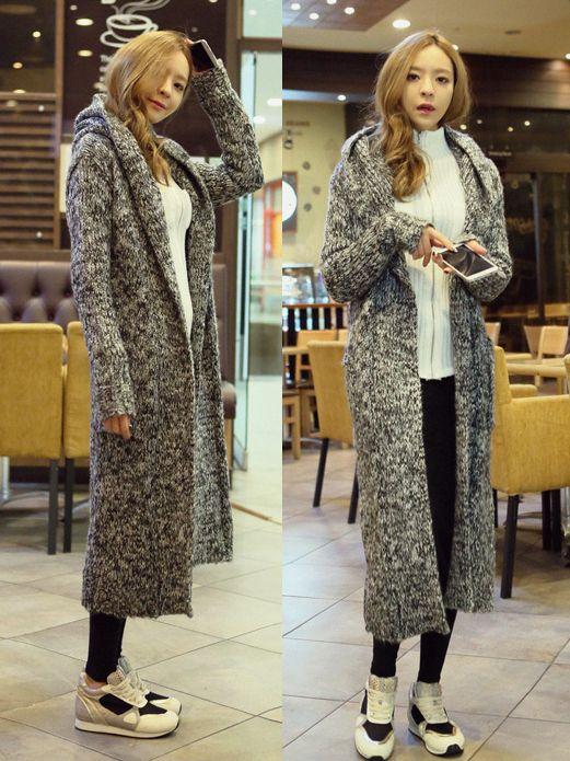 Free-Shipping-Grey-Women-Winter-Long-Sweater-Dress-Long-Knit ...