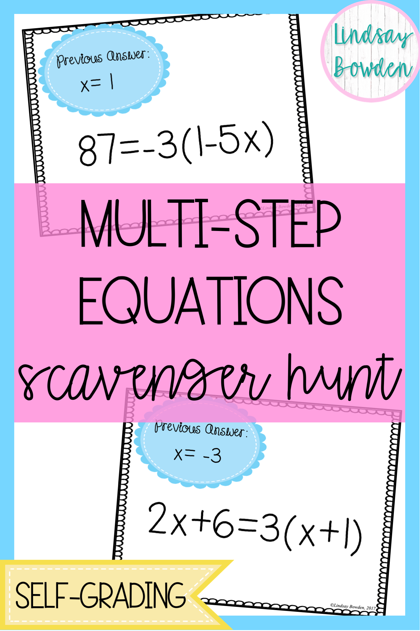 Pin By Annemarie Kimball On Mathing So Hard Multi Step Equations Algebra Activities High School Multi Step Equations Activities [ 2169 x 1446 Pixel ]