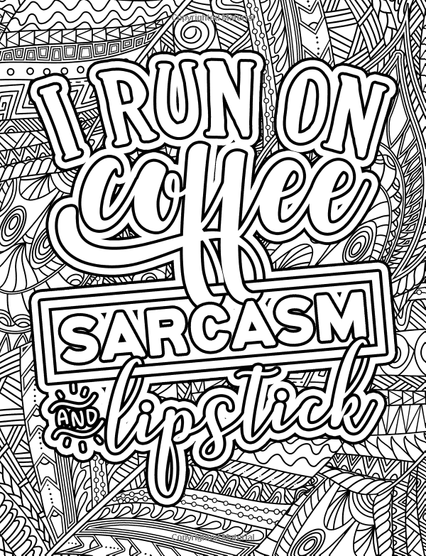 Amazon Com A Snarky Adult Colouring Book I Run On Coffee