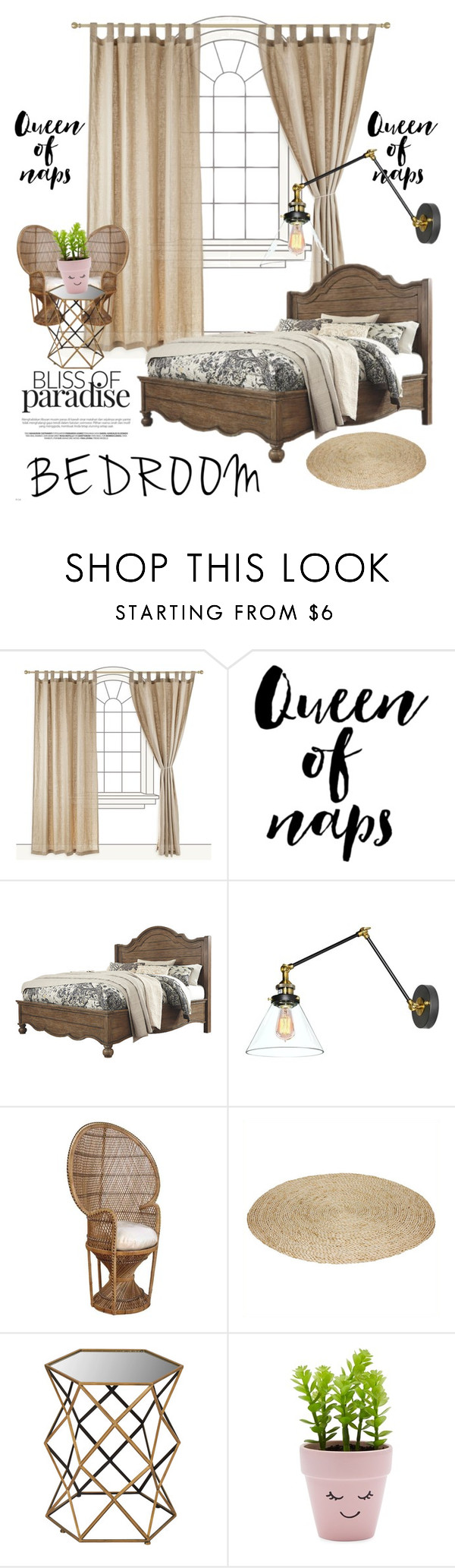 """Under £500 Bedroom ✨"" by monroeloves ❤ liked on Polyvore featuring interior, interiors, interior design, home, home decor, interior decorating, Hospitality Rattan, Dot & Bo, New Look and bedroom"