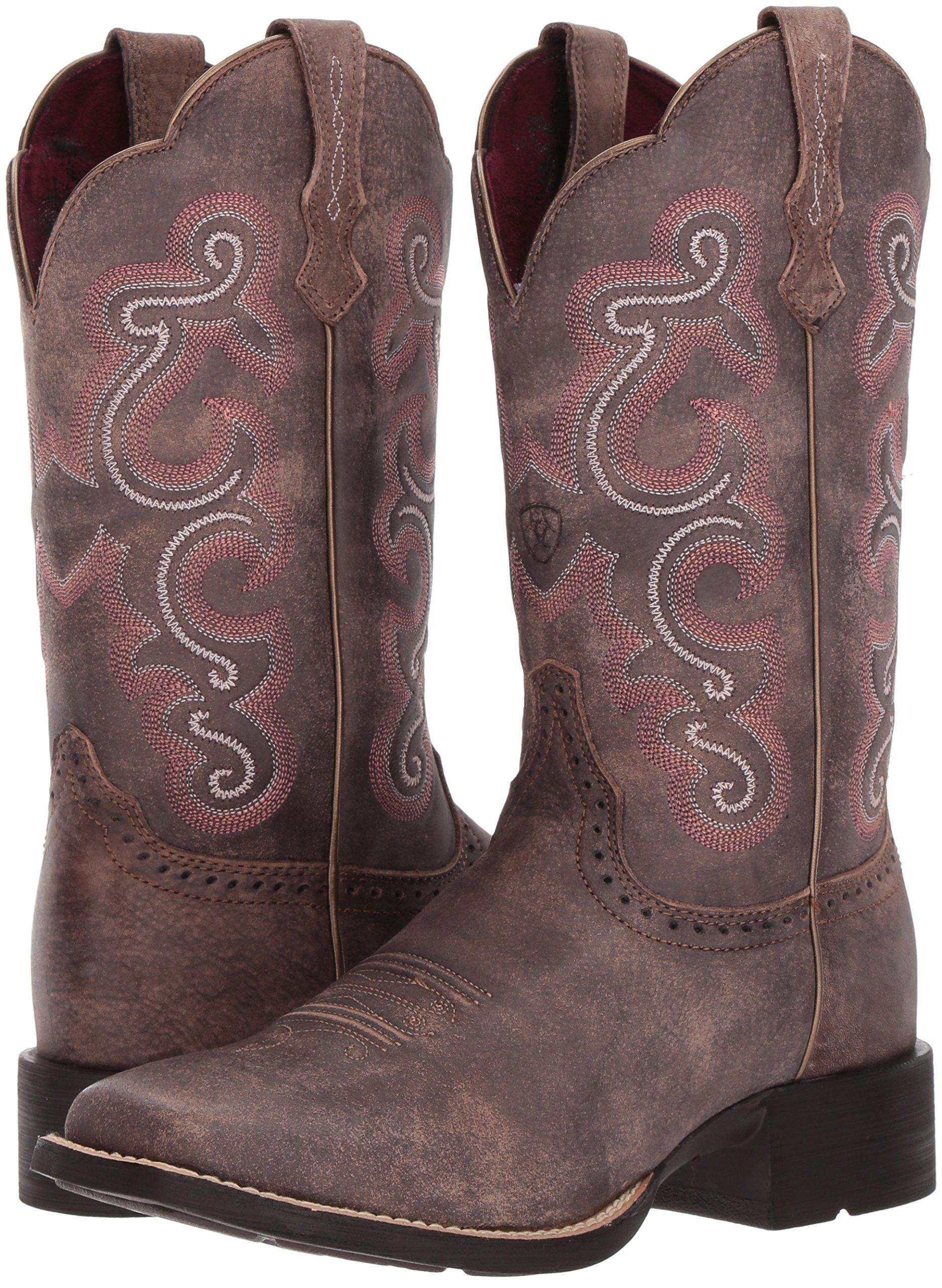 Ariat Womens Quickdraw Work Boot Tack Room Chocolate 10 B US *** For more