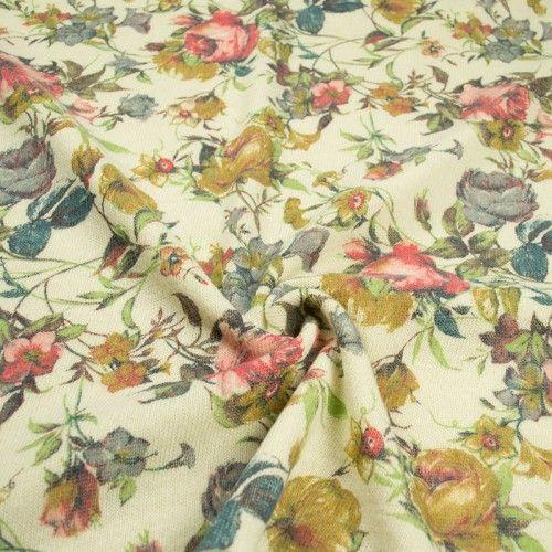 Трикотаж вязаный (цветы) (002952)
