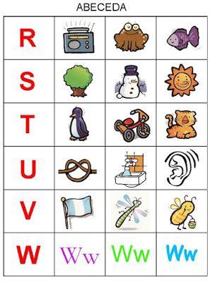 Pro Šíšu: Abeceda - prirazovani obrazku | abeceda | Pinterest | Autismus