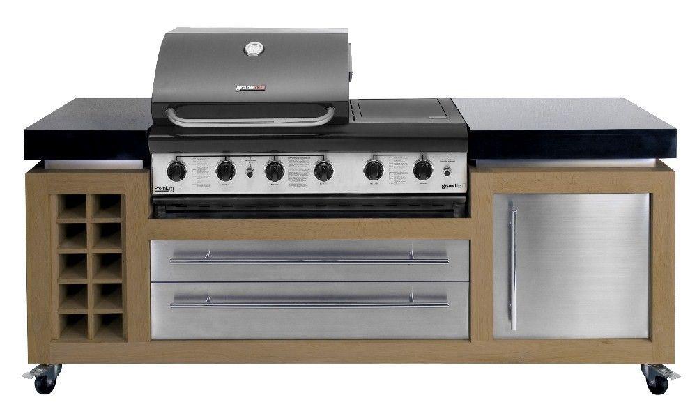 Outdoor Kitchen Oak Stainless Steel Granite Outdoor Kitchen Unit With Bbq Modern Outdoor Kitchen Outdoor Kitchen Outdoor Bbq Kitchen