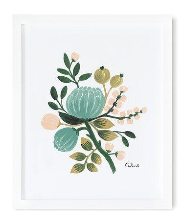 Loving this Blue Botanical Print on #zulily! #zulilyfinds