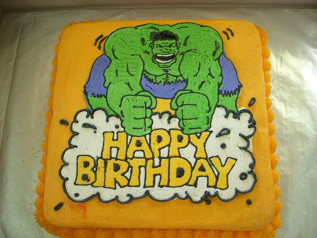 Incredible Hulk Birthday Cake Hulk birthday cakes Hulk birthday