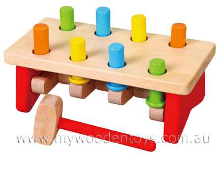 Wooden Peg Hammering Bench In 2019 Products Wooden Toys