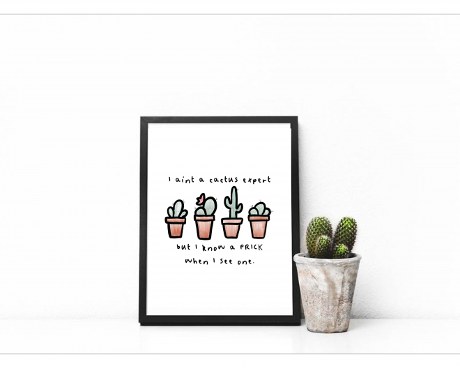 Cactus Expert Printable Wall Art Quote Printable Wall Art Quotes Printable Wall Art Wall Art