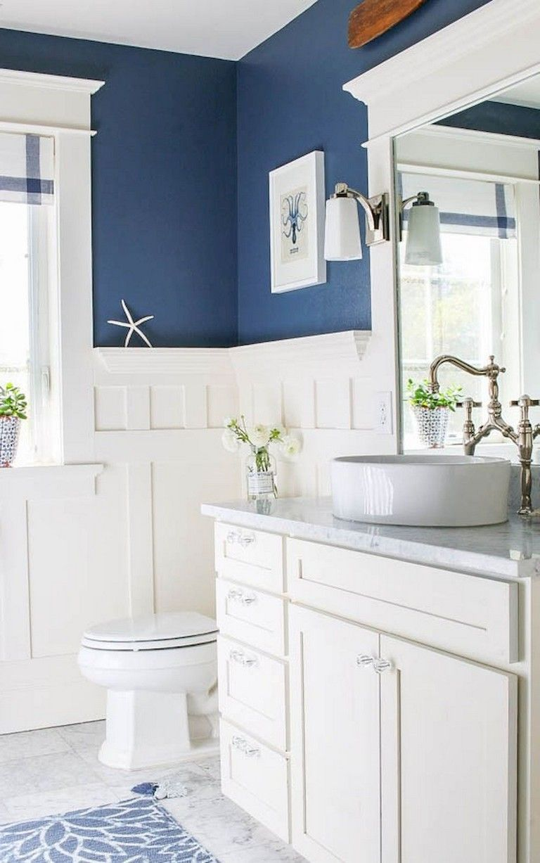 59 Gorgeous Coastal Beach Bathroom Decoration Ideas Bathroom Bathroomdecorating Bat Bathroom Design Inspiration White Bathroom Decor Coastal Bathroom Decor