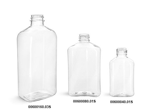 Plastic Bottles Clear Pet Oblong Bottles Bulk Caps Not Included Bottle Plastic Bottles Bottle Packaging