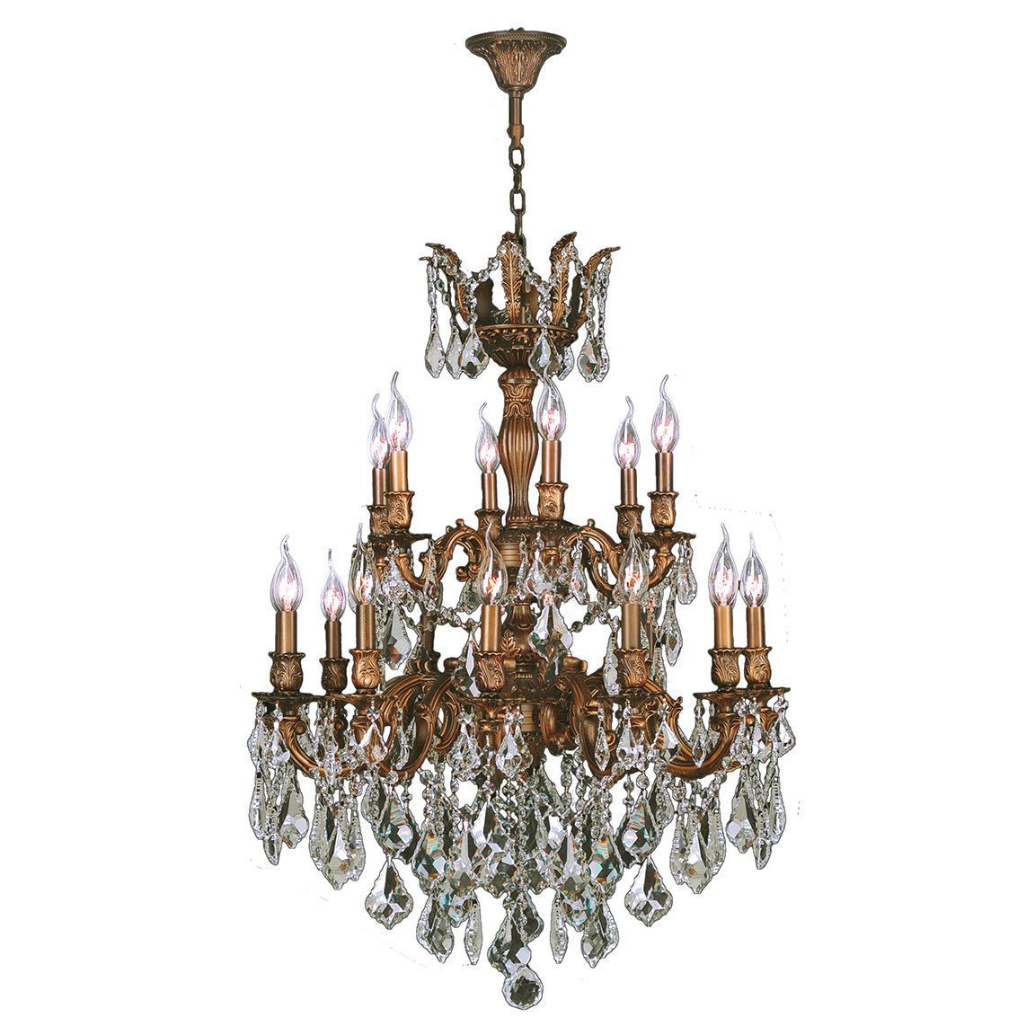 French imperial collection 18 light french gold finish and clear french imperial collection 18 light french gold finish and clear crystal traditional chandelier large two 2 tier 27 x 38 18 lights chandelier arubaitofo Gallery