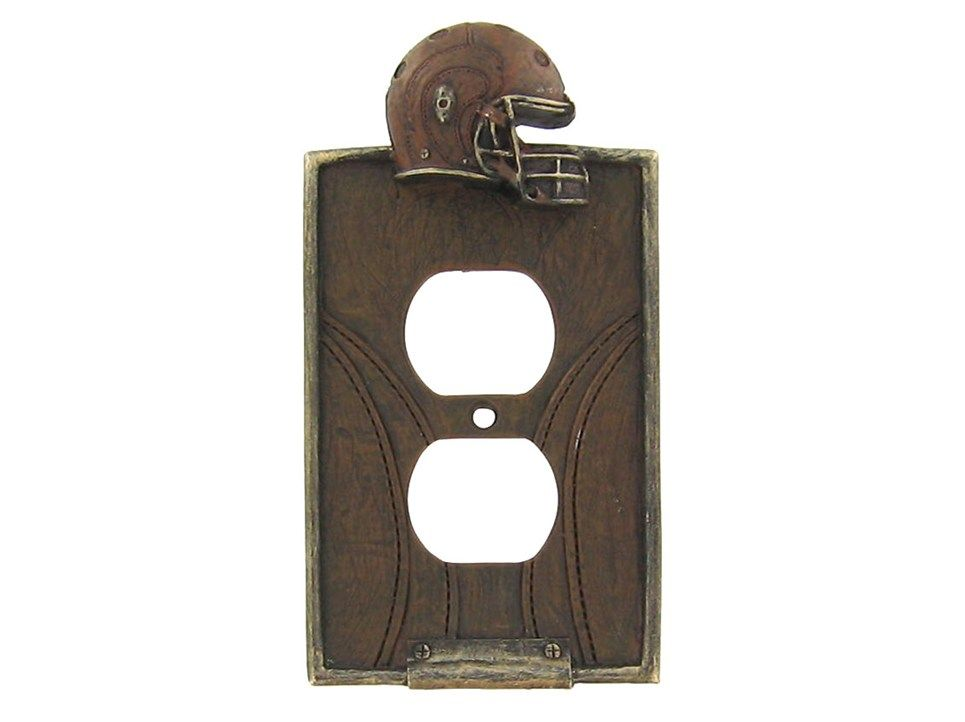 Football Double Outlet Plate $6.99 at Hobby Lobby!