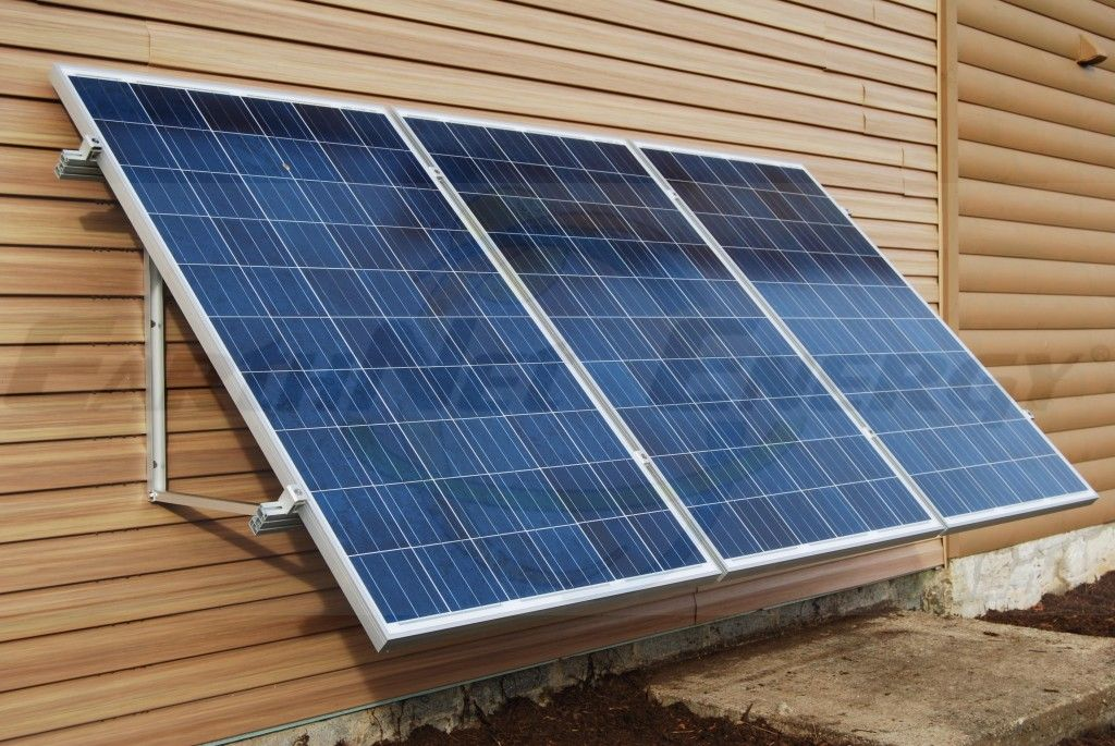 Earthnet Energy 3 Module Wall Mount System Solar Panels Solar Heating Heating Cooling System