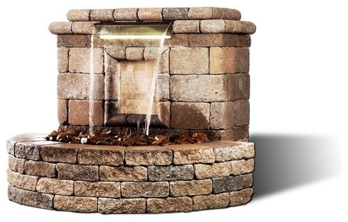 The Oasis Ii Water Feature Modern Outdoor Fountains 640 x 480
