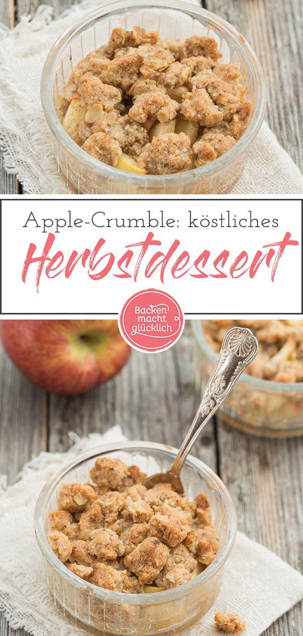 Apfel-Crumble (Apple Crumble) | Backen macht glücklich